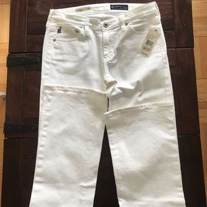 AG white Angel boot cut jeans NWT